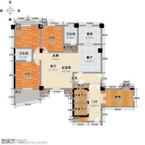 世纪名城3室0厅2卫1厨215.00㎡户型图