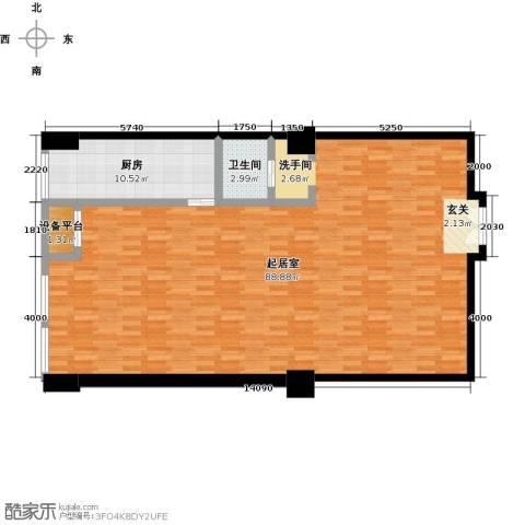嘉业大厦二期1卫1厨130.00㎡户型图