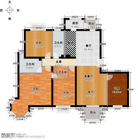 2U・香花畦4室1厅2卫1厨168.00㎡户型图
