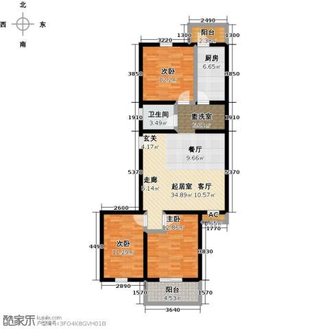 家春秋(长城脚下的四合院)3室0厅1卫1厨103.00㎡户型图