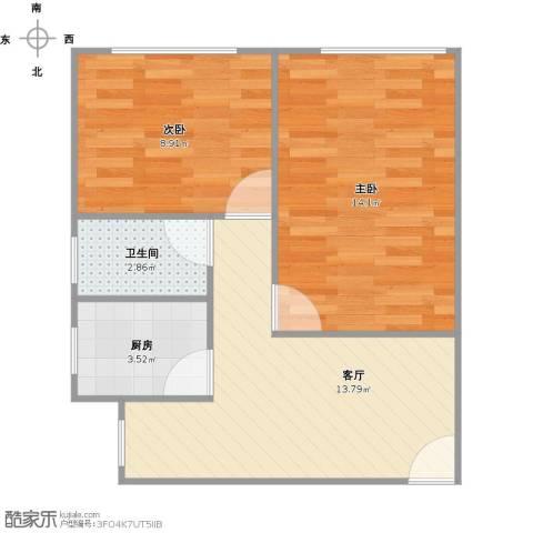 凌兆路256弄小区2室1厅1卫1厨58.00㎡户型图