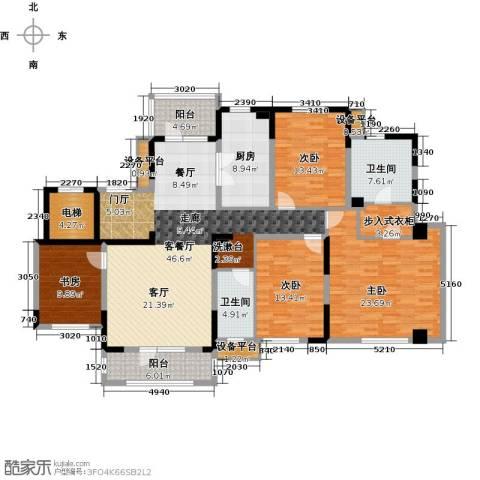 新地阿尔法国际社区4室1厅2卫1厨172.00㎡户型图