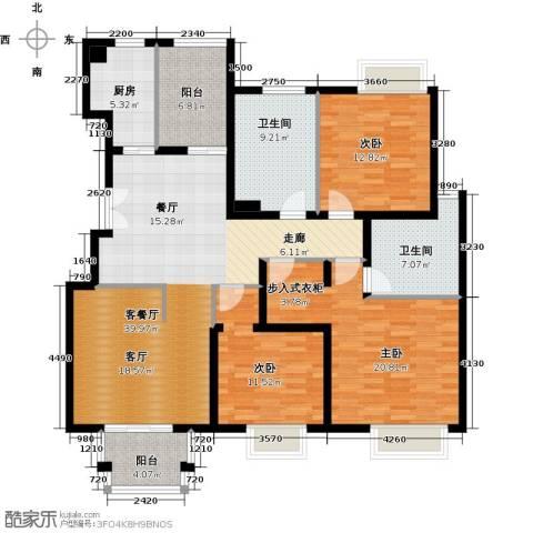2U・香花畦3室1厅2卫1厨142.00㎡户型图