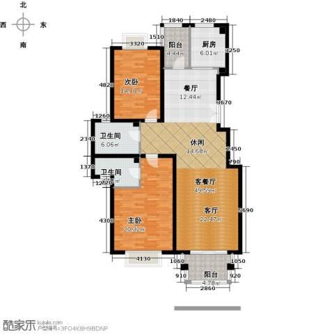 2U・香花畦2室1厅2卫1厨118.00㎡户型图