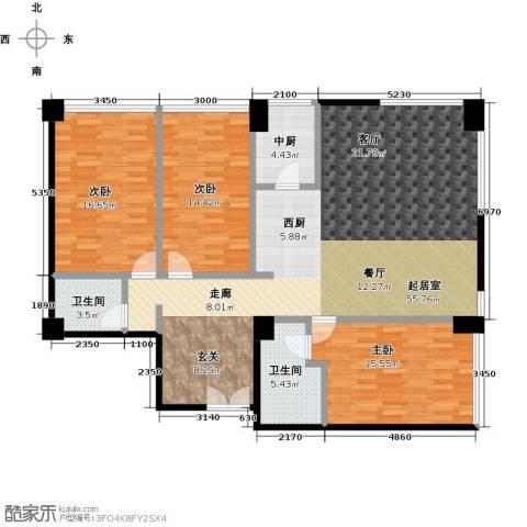 桐城国际3室0厅2卫0厨163.00㎡户型图
