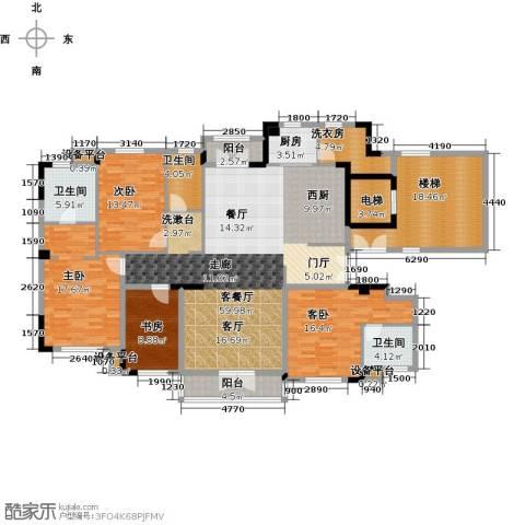 新地阿尔法国际社区4室1厅3卫1厨192.00㎡户型图