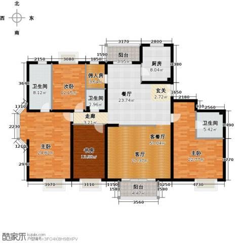2U・香花畦4室1厅3卫1厨224.00㎡户型图