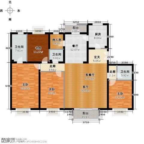 2U・香花畦4室1厅3卫1厨191.00㎡户型图