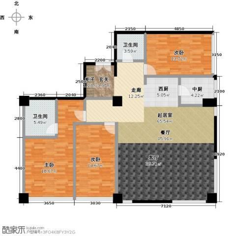 桐城国际3室0厅2卫0厨177.00㎡户型图