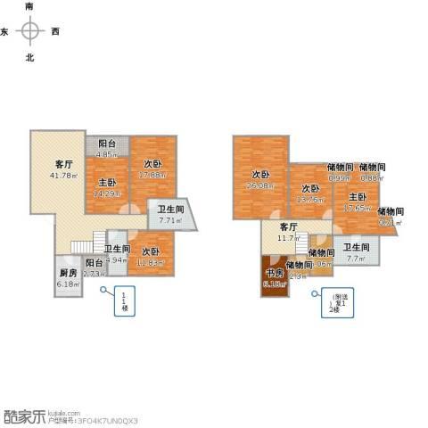 中星海上名庭7室2厅3卫1厨273.00㎡户型图