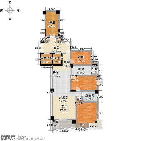 世纪名城3室0厅1卫1厨181.00㎡户型图