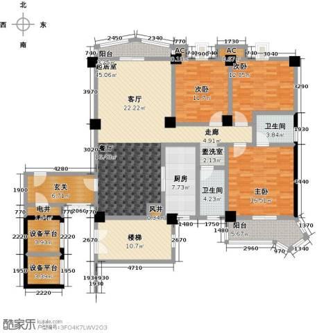 世纪名城3室0厅2卫1厨203.00㎡户型图