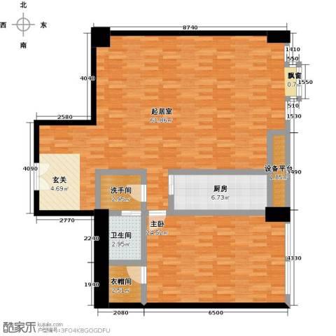 嘉业大厦二期1室0厅1卫1厨137.00㎡户型图