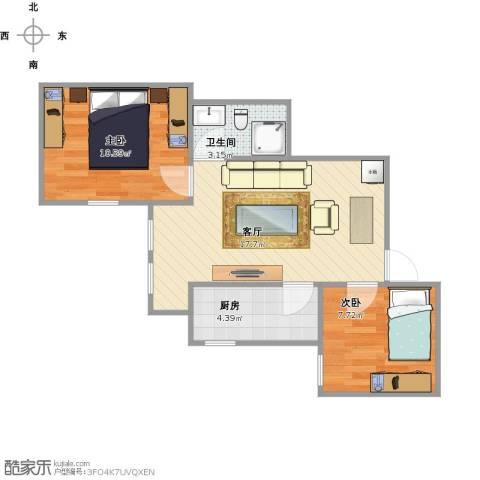兴隆家园2室1厅1卫1厨59.00㎡户型图