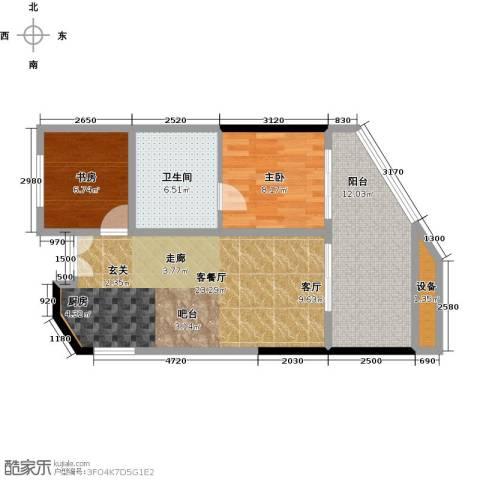 保利・半岛1号2室1厅1卫0厨67.00㎡户型图