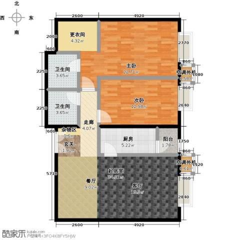 桐城国际2室0厅2卫1厨114.00㎡户型图