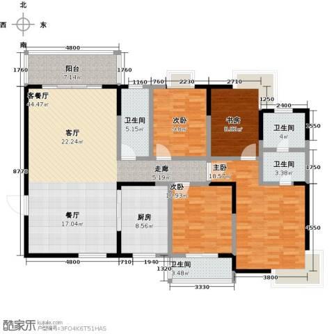 华韵城市风情(一期)4室1厅4卫1厨171.00㎡户型图