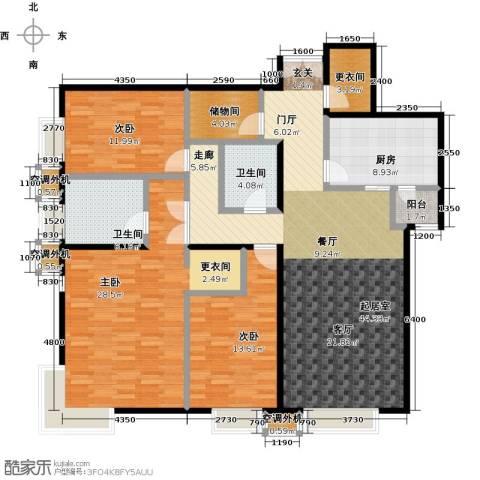 桐城国际3室0厅2卫1厨174.00㎡户型图