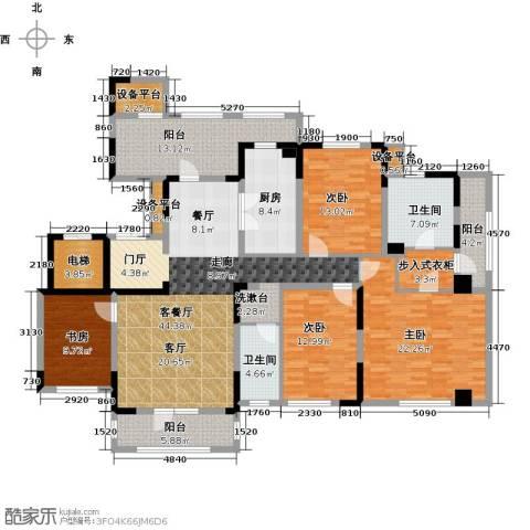 新地阿尔法国际社区4室1厅2卫1厨181.00㎡户型图