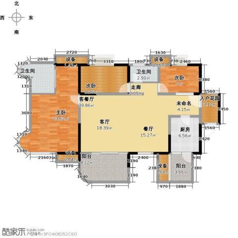 布鲁斯国际新城3室1厅2卫1厨161.00㎡户型图