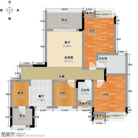 朵力尚美国际(一期)3室0厅2卫1厨99.10㎡户型图