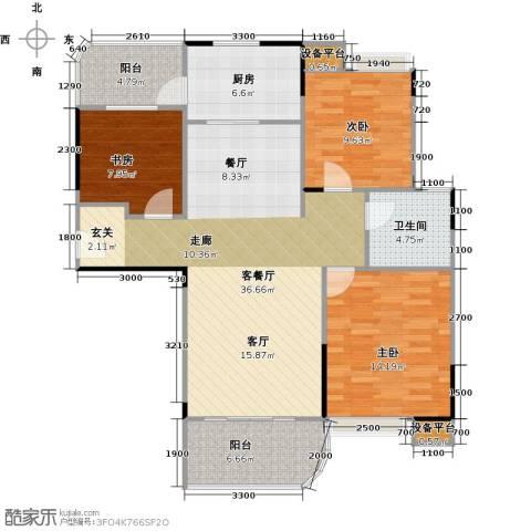 碧桂园凰城3室1厅1卫1厨111.00㎡户型图