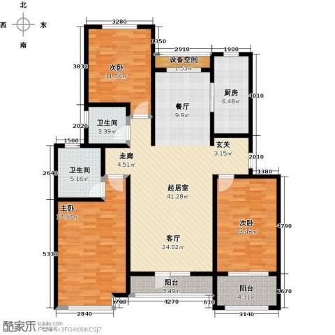 翡翠华府3室0厅2卫1厨123.12㎡户型图