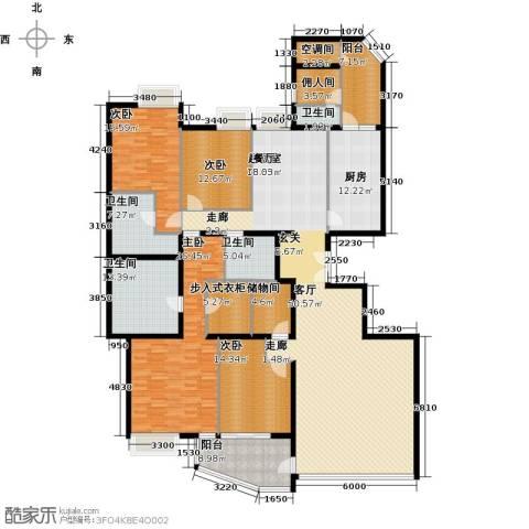 海晟国际公寓4室0厅4卫1厨238.00㎡户型图
