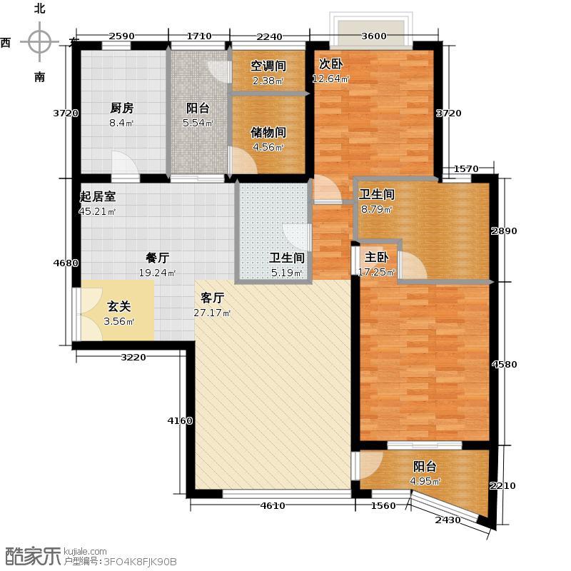 海晟国际公寓128.00㎡C1户型