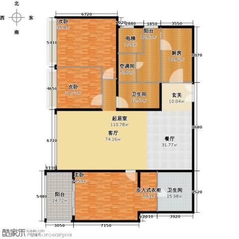 海晟国际公寓3室0厅2卫1厨326.00㎡户型图