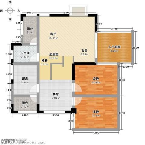 江南水乡(二期)2室0厅1卫1厨118.00㎡户型图