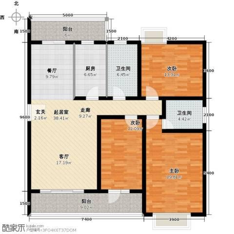 昌福・盛景郦城一期3室0厅2卫1厨116.16㎡户型图