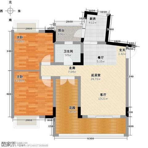 科而士・天辰美苑(一期)2室0厅1卫1厨107.00㎡户型图