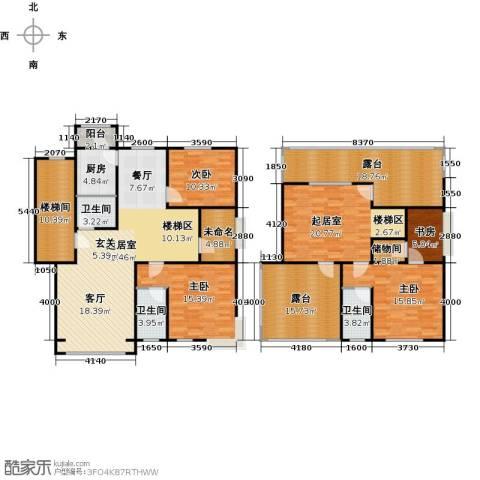 蓝调沙龙4室0厅3卫1厨199.00㎡户型图