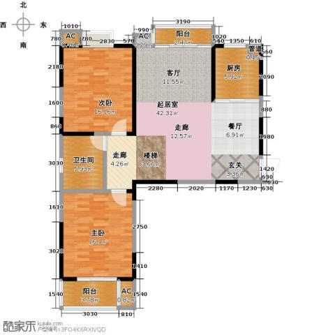 翡翠湾2室0厅1卫1厨106.00㎡户型图