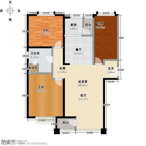 金广东海岸一期3室0厅1卫1厨154.00㎡户型图
