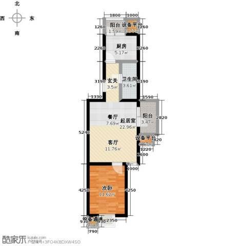 花都盛景(宜兰园)1室0厅1卫1厨65.00㎡户型图