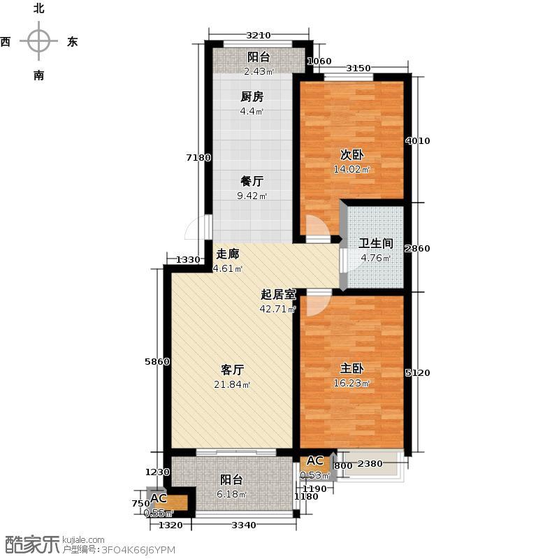 青岛印象湾4#5#楼A2户型2室1卫