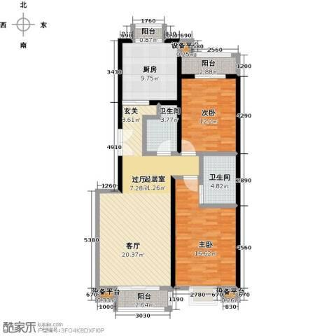 嘉业大厦二期2室0厅2卫1厨121.00㎡户型图