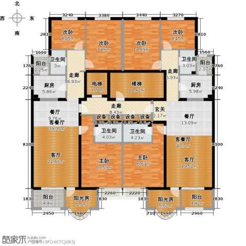 亚太国际公馆6室2厅4卫2厨336.00㎡户型图