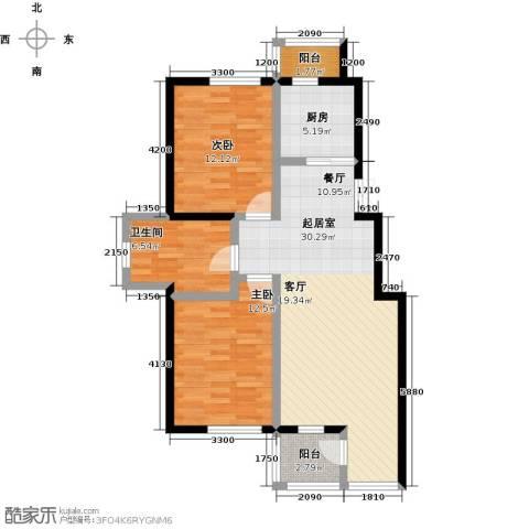 美域盛景二期2室0厅1卫1厨103.00㎡户型图