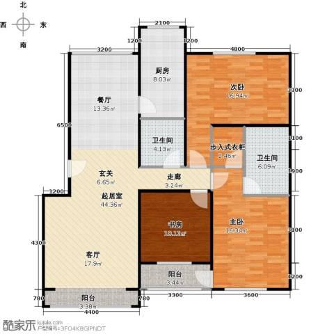 蓝调沙龙3室0厅2卫1厨132.00㎡户型图