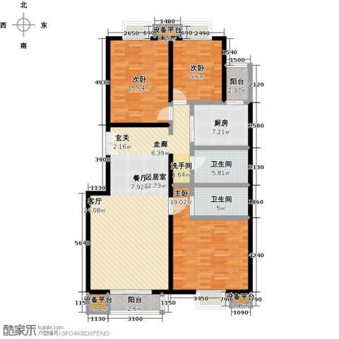 嘉业大厦二期3室0厅2卫1厨140.00㎡户型图