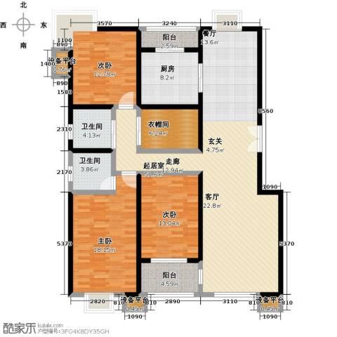 嘉业大厦二期3室0厅2卫1厨176.00㎡户型图