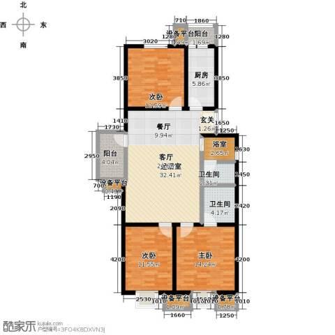 花都盛景(宜兰园)3室0厅2卫1厨112.00㎡户型图