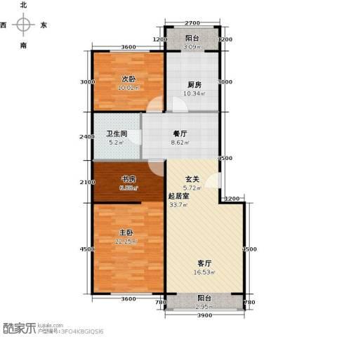 蓝调沙龙2室0厅1卫1厨98.00㎡户型图