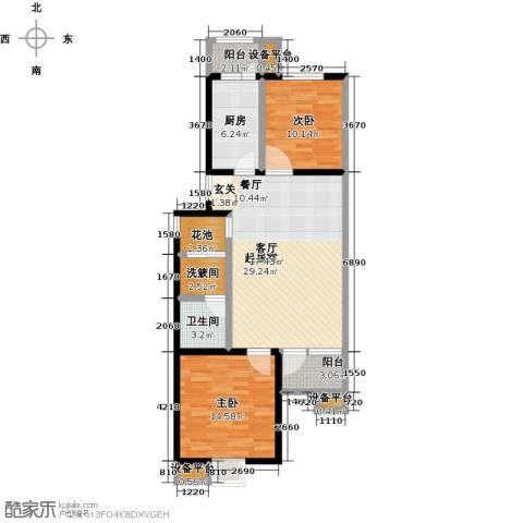 花都盛景(宜兰园)2室0厅1卫1厨89.00㎡户型图