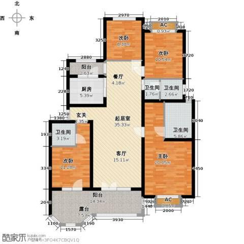 加州玫瑰园4室0厅4卫1厨178.00㎡户型图
