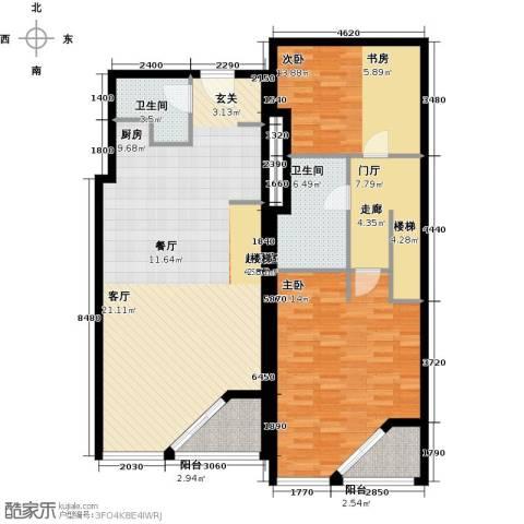 元嘉国际公寓(钛度)2室0厅2卫0厨119.00㎡户型图
