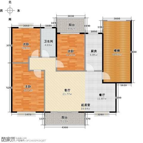 天龙花园3室0厅1卫1厨110.33㎡户型图